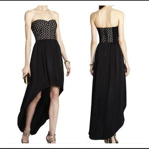 BCBGMaxAzria Bustier Hi Low Dress